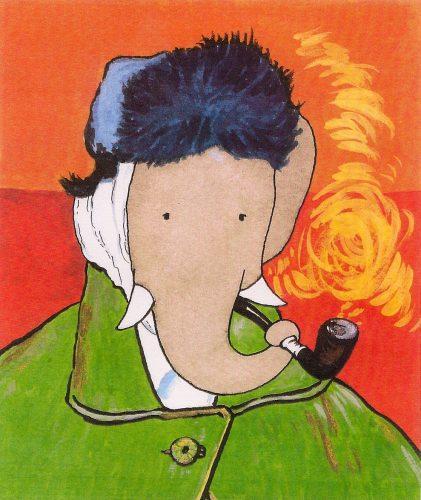 éléphant qui fume