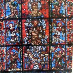 tableau cathédrale de chartres de près