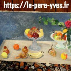 tableau toile fruits beauvais biais