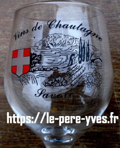 verres à pied à vin blanc de savoie chautagne détail