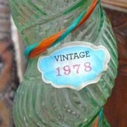 bouteille vintage 1978 étiquette vintage
