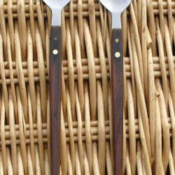 couverts de service bois inox recto