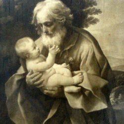 tableau barbu et enfant de près