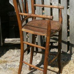 chaise à bouillie cirée gauche