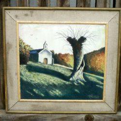 tableau georget chapelle derrière tronc face