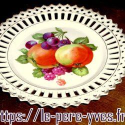 assiette fruitière a biais