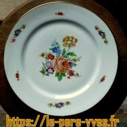 assiettes plates fleurs limoges grandes dessus