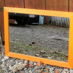 miroir orange rectangle long