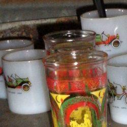 verres thé menthe colorés 3 étagère