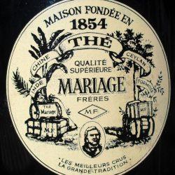 boite à thé mariage noir recto détail