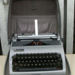 machine à écrire optima ouverte