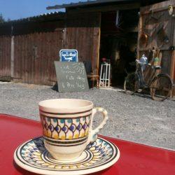 tasses à café soleil coté