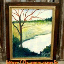 tableau georget arbre rougi face