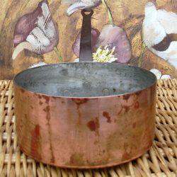 casserole fer cuivre étamé fause jumelle face