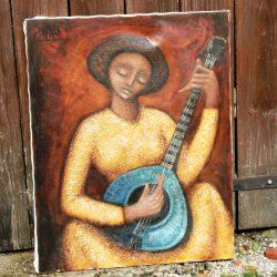 tableau joueuse de mandoline
