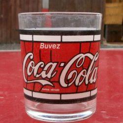 verre coca sans pied bas