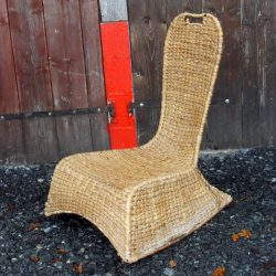 rocking chair paille biais