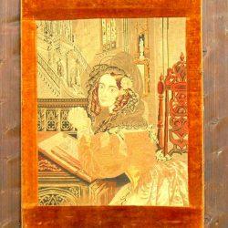 tableau tapissière en prière de loin