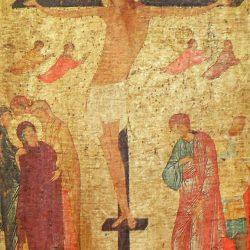icone crucifixion de près