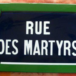 plaque rue des martyrs recto