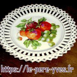 assiette fruitière b biais