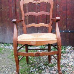 fauteuil louis xv paillé face