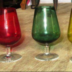 verres à digestif colorés
