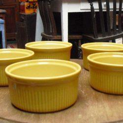 ramequins 5 jaunes coté