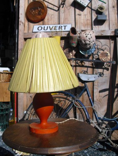 lampes de chevet bois orange atelier