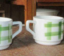 café tasses écossaises