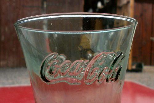 verre coca sans pied évasé détail