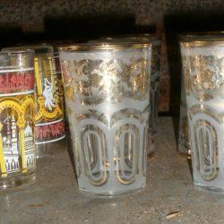 verres à thé dorés atelier