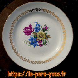 assiettes plates fleurs sarreguemines recto
