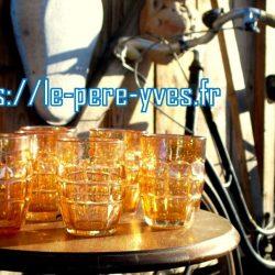 verres dorés 1960 coté