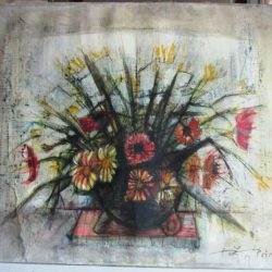 tableau fleurs poiret