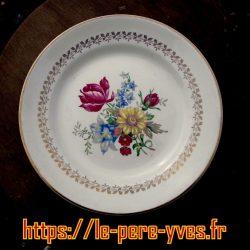 assiettes dessert fleurs sarreguemines recto
