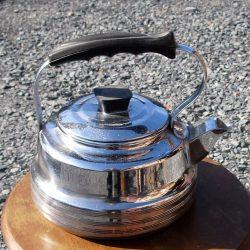 bouilloire cuivre chromé trèfle carré droite