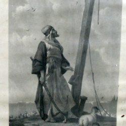 religieux berger de jérusalem de près