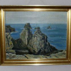 tableau mer et rochers