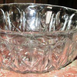 compotier bas verre coté