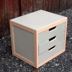 bloc 3 tiroirs peint biais