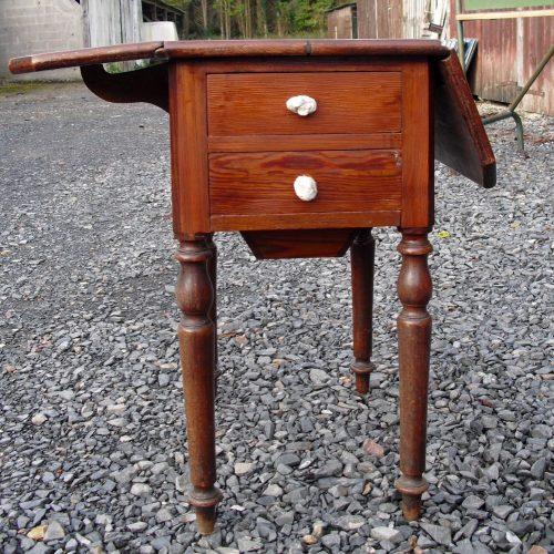 table de couturière granville tiroirs face 1 allonge