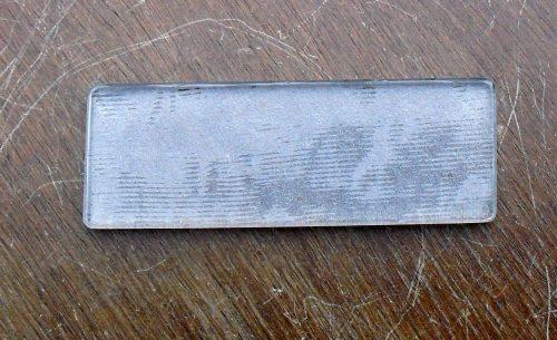 porte couteau en verre coté lisse