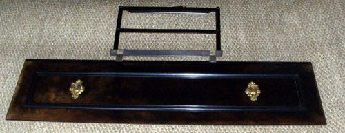 panneau supérieur piano noir porte partition haut