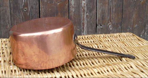 casserole fer cuivre étamé la grande envers