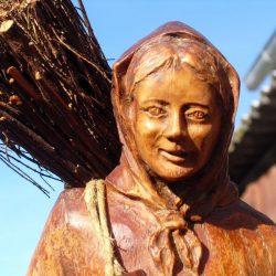 statuette belle des bois visage