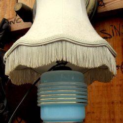 lampe opaline bleue