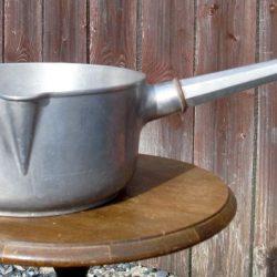 casseroles alu manche chromé marcalu coté