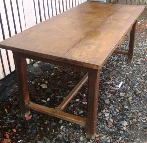 Vieille Table De Ferme En Ch Ne