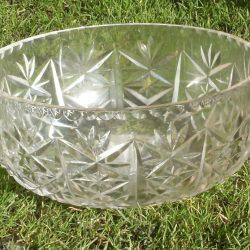 compotier en verre gravé